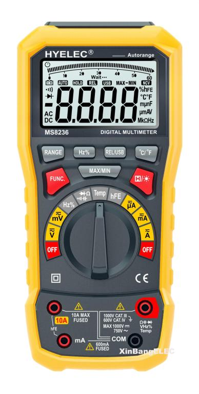 Digital Multimeter with Auto Range Auto Power Off and Temperature Test Data Logger Multitester multimeter test leads digital auto range