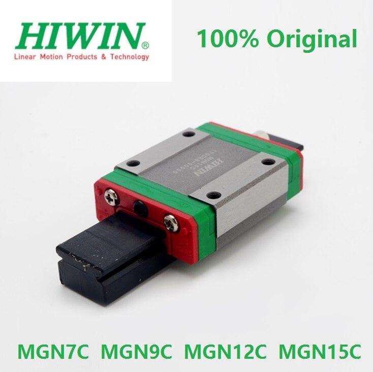 4pcs 100 original HIWIN linear block MGN7C MGN9C MGN12C MGN15C for mini linear guide CNC part