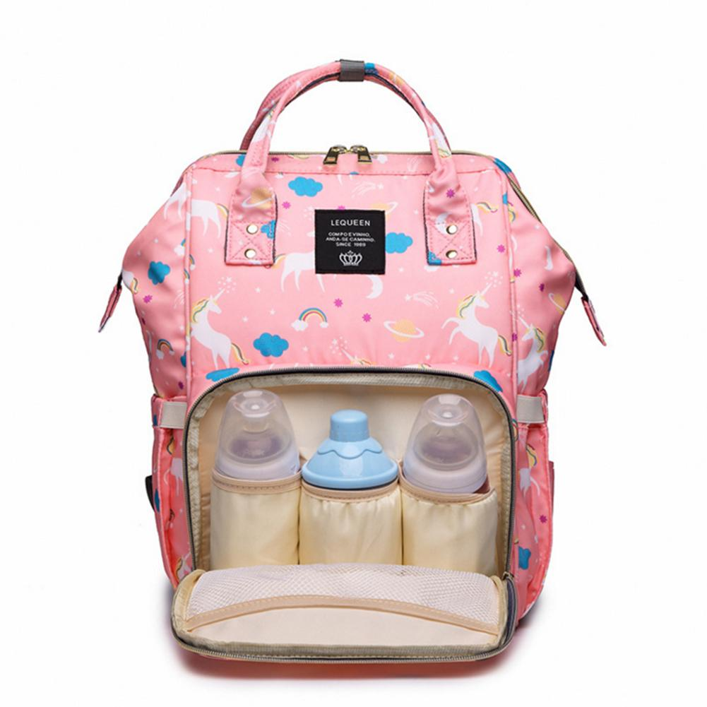 Fashion Mommy Diaper Bag Large Capacity Baby Nappy Bag Cartoon Unicorn Printed Waterproof Mommy Shoulder Bag Backpack for Travel