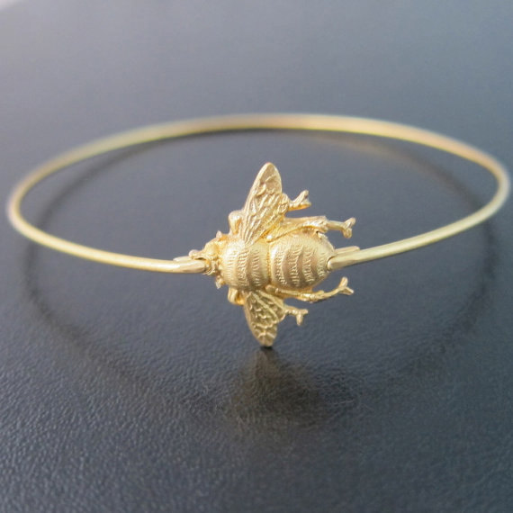 Bumble Bee Bangle New Arrival Fashion Alloy Insect Bracelets Jewelry For Women  YP2426