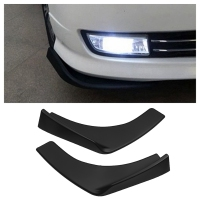 2Pcs/Set Black ABS Fit Front Bumper Lip Splitter Fin Air Knife Auto Body Kit Car Spoiler Accessory