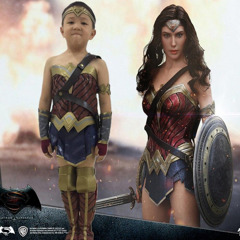 Batman V Superman Dawn Of Justice Wonder Woman Kids Child Cosplay Costume Dress -4972