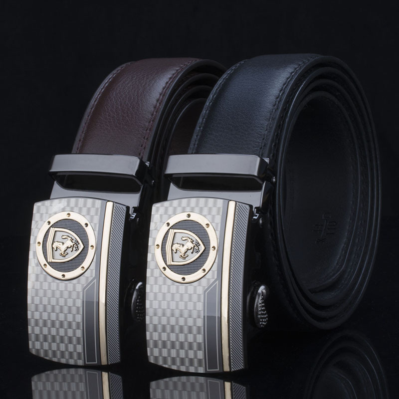 KAWEIDA Designer   Belts   for Men 2019 Ceinture Horse Automatic Buckle Black Brown Waist   Belt   Genuine Leather Ceinture for Jeans