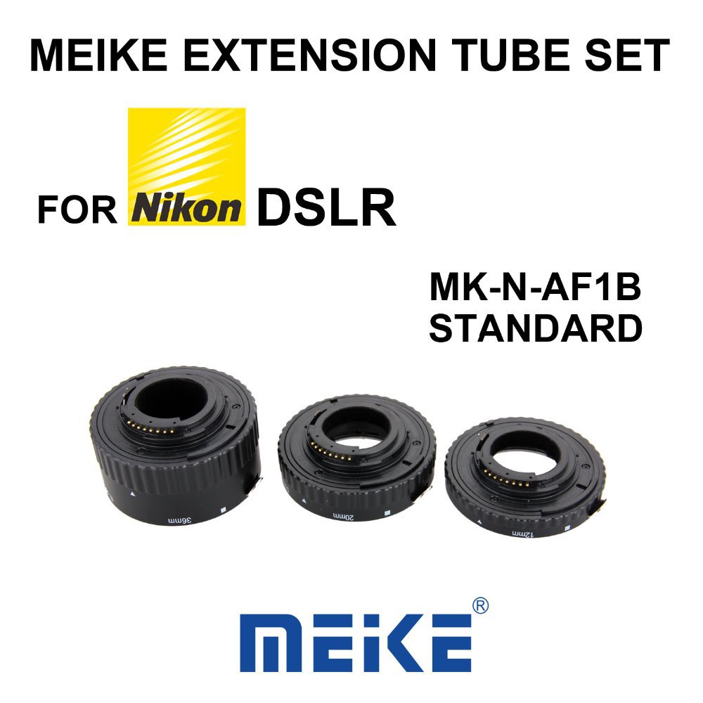 MEKE Meike N-AF-B Auto Focus Macro Extension Tube Ring Plastic for Nikon D800 D90 D3200 D5100 D5200 D7000 D7100 Camera DSLR цена 2017