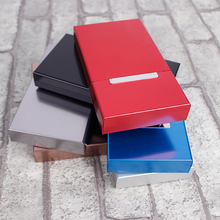 New Clamshell Ultra Thin Fashion Pipes Creative Personality Cigaret Case Slim Metal Cigarette Box Aluminum Holder