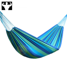Single hammock portable outdoor camping high-intensity parachute fabric hanging bed hunting sleeping swing