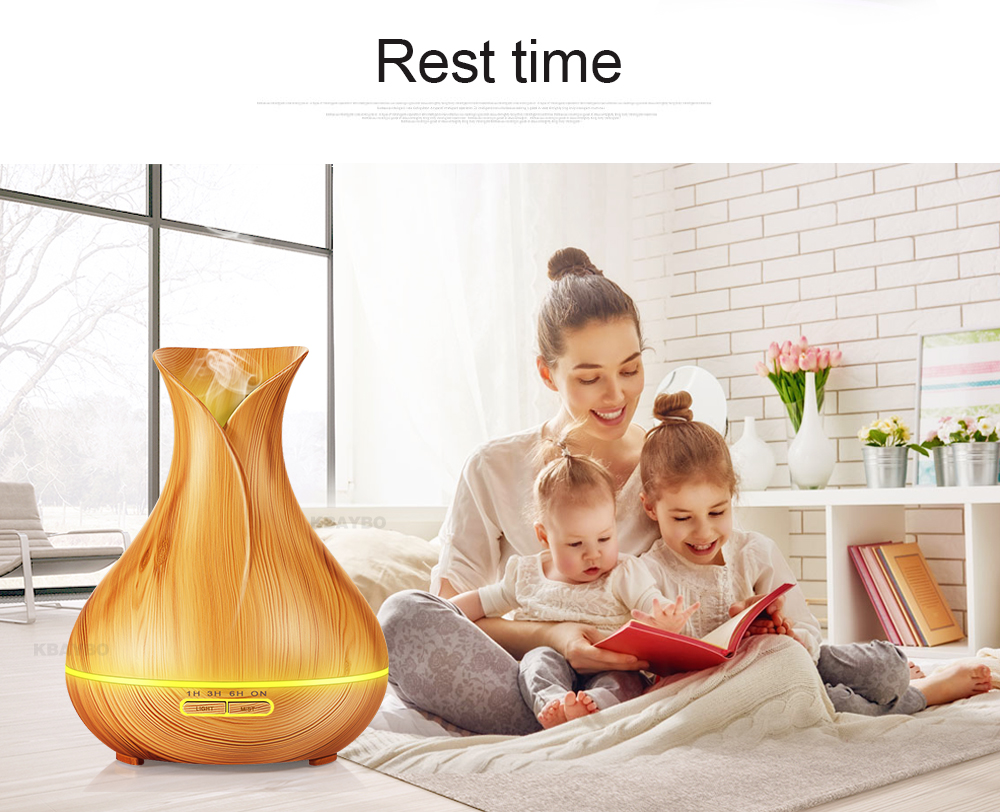 Aroma Essential Ultrasonic Air Humidifier wood