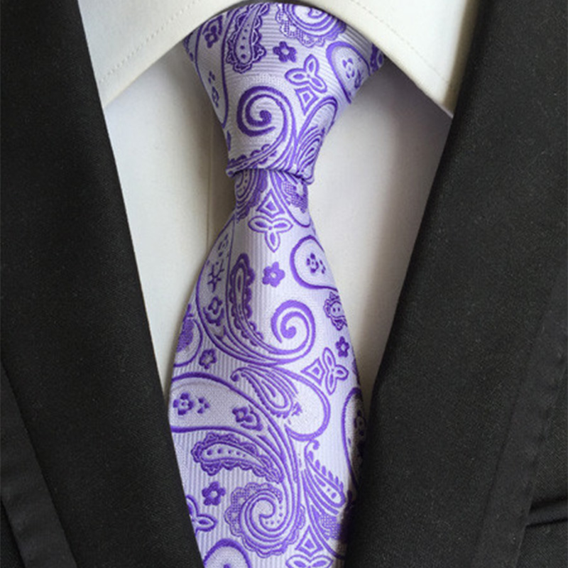 Mantieqingway Fashion Paisley Ties 8cm Neckties Men Wedding Business Tie Causal Party Male Gravatas Aliexpress standard Shipping