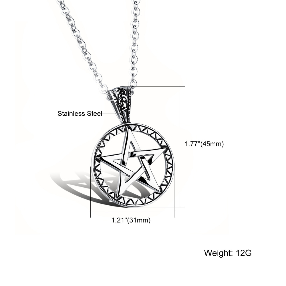 Cool gift casting 316l stainless steel pentagram satanic symbol cool gift casting 316l stainless steel pentagram satanic symbol satan worship pendant necklace with chain in pendant necklaces from jewelry accessories on buycottarizona Image collections
