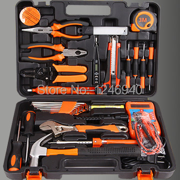 top household tool kit hardware tools group set German household toolkit boxed set combination 46pcs socket set 1 4 drive ratchet wrench spanner multifunctional combination household tool kit car repair tools set