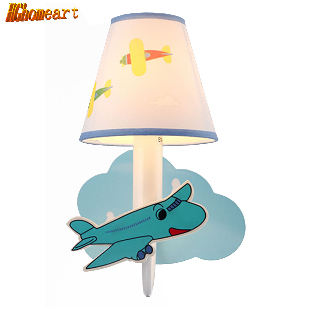 HGHomeart Modern Cartoon Aircraft Wall Lamp LED Night Light Children Room Channel Attic Lighting Decorative Wall Bedside Lamp modern lamp trophy wall lamp wall lamp bed lighting bedside wall lamp
