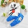Moda bebé de Dibujos Animados Juegos de la ropa niñas niños ropa de bebé de algodón de dibujos animados camisetas + pantalones 2 unids Ropa Niños Set