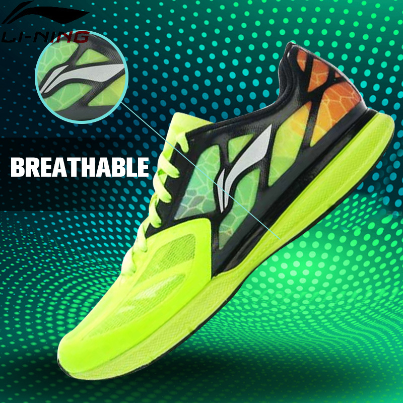 Li-Ning Superlight XI Outdoor Running Shoes Men Light Weight Mesh Breathable Cushioning Lace-Up Sneakers Shoes ARBJ009 XYP270 li ning women running shoes air mesh breathable cushioning dmx techonology lace up light sneakers arbk034 xwr044