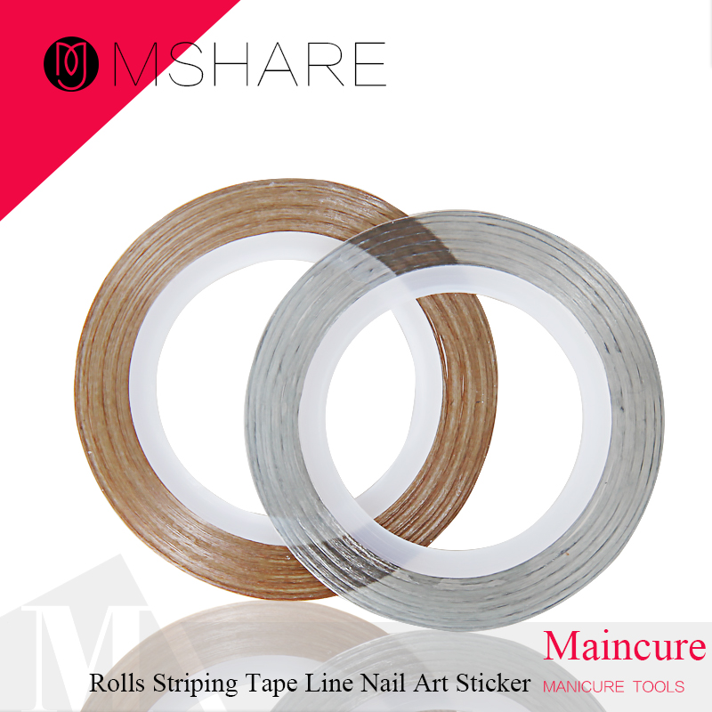 MSHARE 1 Rolls Striping Tape Line Nail Art Sticker Tools Beauty Decorations for on Nail Stickers