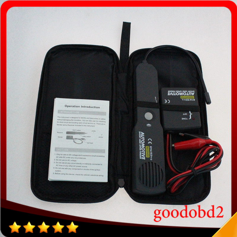 Best Car Automotive Short Open Finder EM415PRO Car Short Circuit Detector Car Repair Tool detector Track