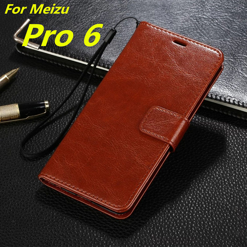 "Meizu Pro6 5.2""-inch Card Holder Cover Case for MEIZU Pro 6 Pu Leather Phone Case Wallet Flip Cover High Quality Holster women"