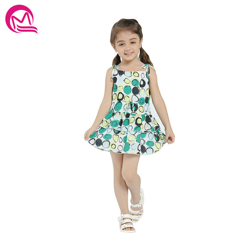 Girls Dress MQ Brand Baby Girls Summer Casual Clothes Silk Cotton 2018 New Arrival Print Mini Short Sleeve Party Dresses A Line 2018 brand summer girls cotton casual