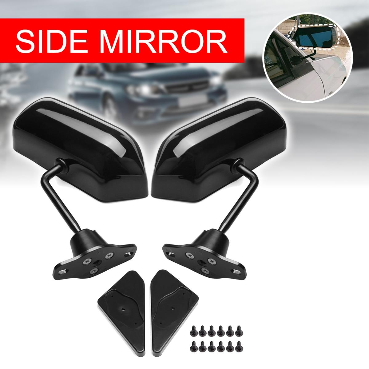Rétroviseur latéral universel gauche/droite rétroviseur latéral en verre convexe noir pour moto rétroviseur arrière