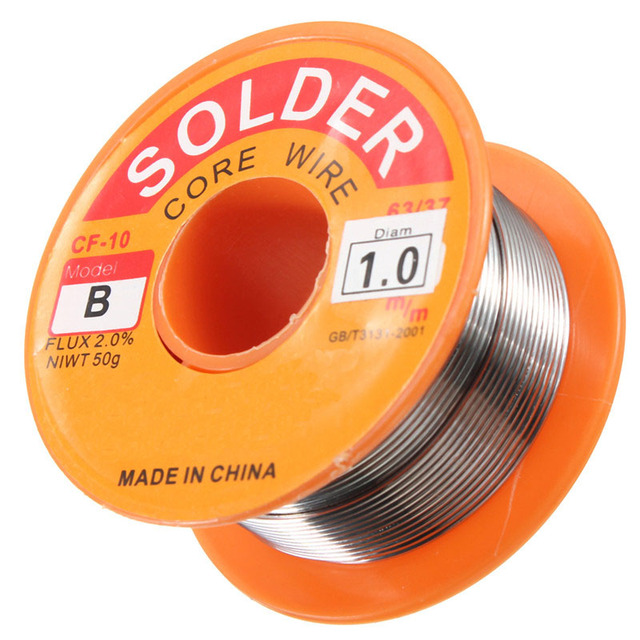 0.5/0.6/0.8/1/1.2/1.5/2.0mm 63/37 FLUX 2.0% 45FT Tin Lead Tin Wire Melt Rosin Core Solder Soldering Wire Roll 3