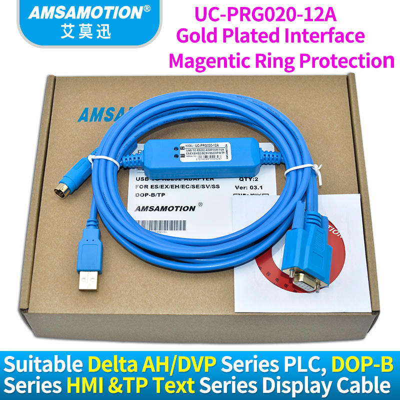 Compatible Delta AH DVP Series PLC DOP-B Series HMI And TP Text Display Programming Cable IFD6601 UC-PRG020-12A suitable delta plc programming cable usb dvp communication cable usbacab230 dvp es ee ss