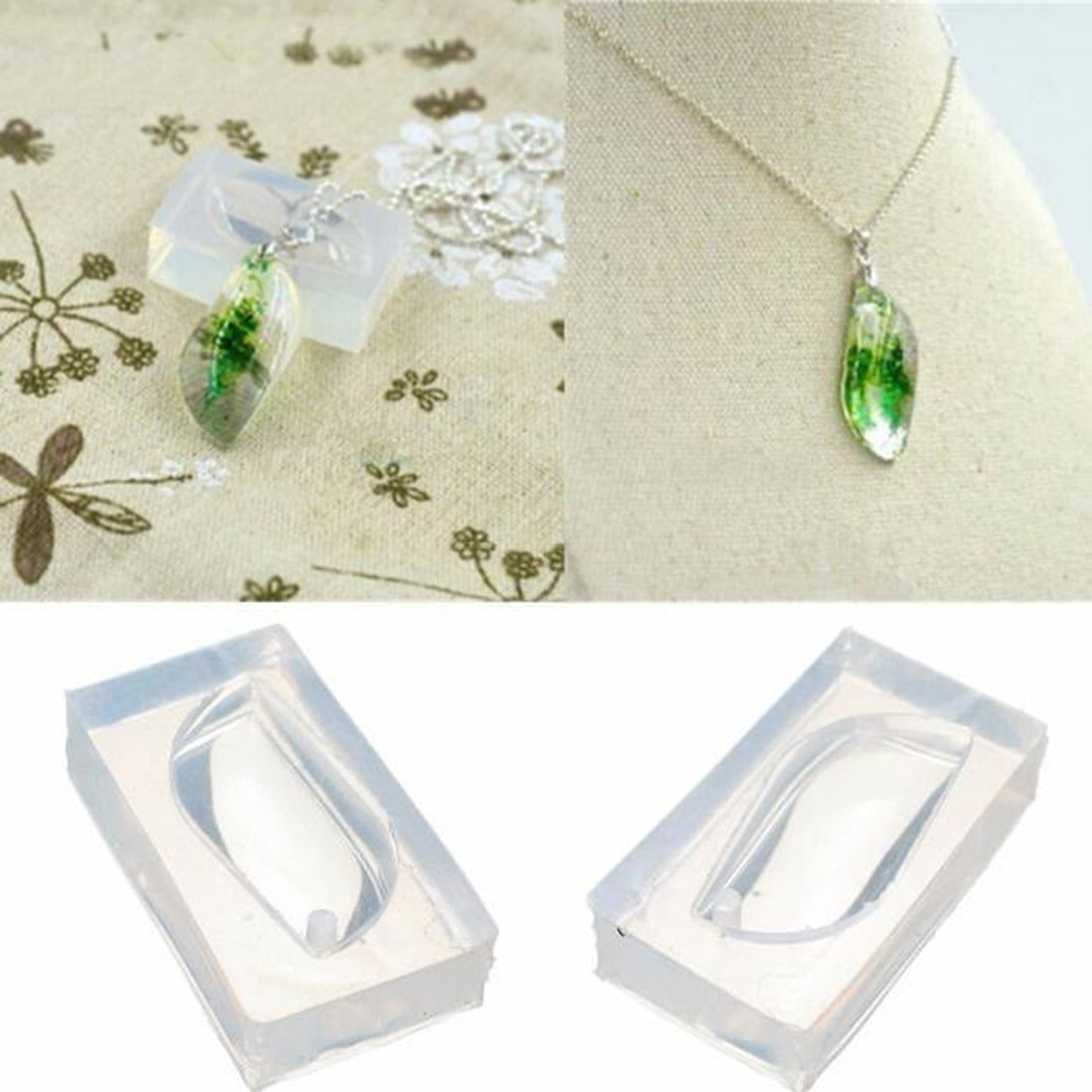DIY Craft S Shape Silicone Pendant Water Drop Gem Mold Resin Casing Jewelry Handmade Tool Epoxy Resin Molds