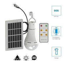Уличная палатка Солнечная лампа USB перезаряжаемая Светодиодная лампа на солнечной энергии с дистанционным датчиком светильник на солнечной батарее портативные лампы