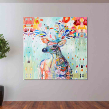 Canvas Painting Elephant Wall Art Decor Posters And Prints Pictures For Animal Deer Zebra Living Room Decoration