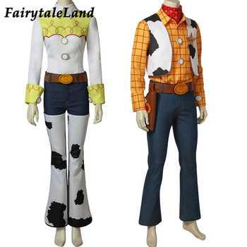 Halloween cosplay Party Toy Story Cowgirl Jessie Cowboy Woody Costume suit Mascot Hat Cosplay Props Full outfits custom made - DISCOUNT ITEM  15% OFF All Category