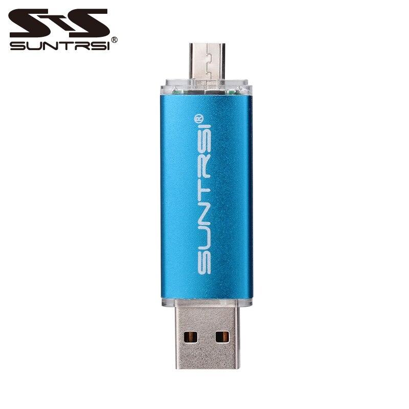 Suntrsi 128gb usb flash High Speed OTG flash drive 32gb usb stick for smart phone pendrive 64gb 16gb Metal Swivel flash disk 8gb цены онлайн