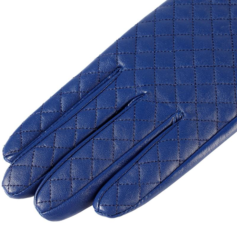 Image 4 - Gloves women,Genuine Leather,Cotton lining,blue leather gloves,leather gloves for women,Female gloves-in Women's Gloves from Apparel Accessories
