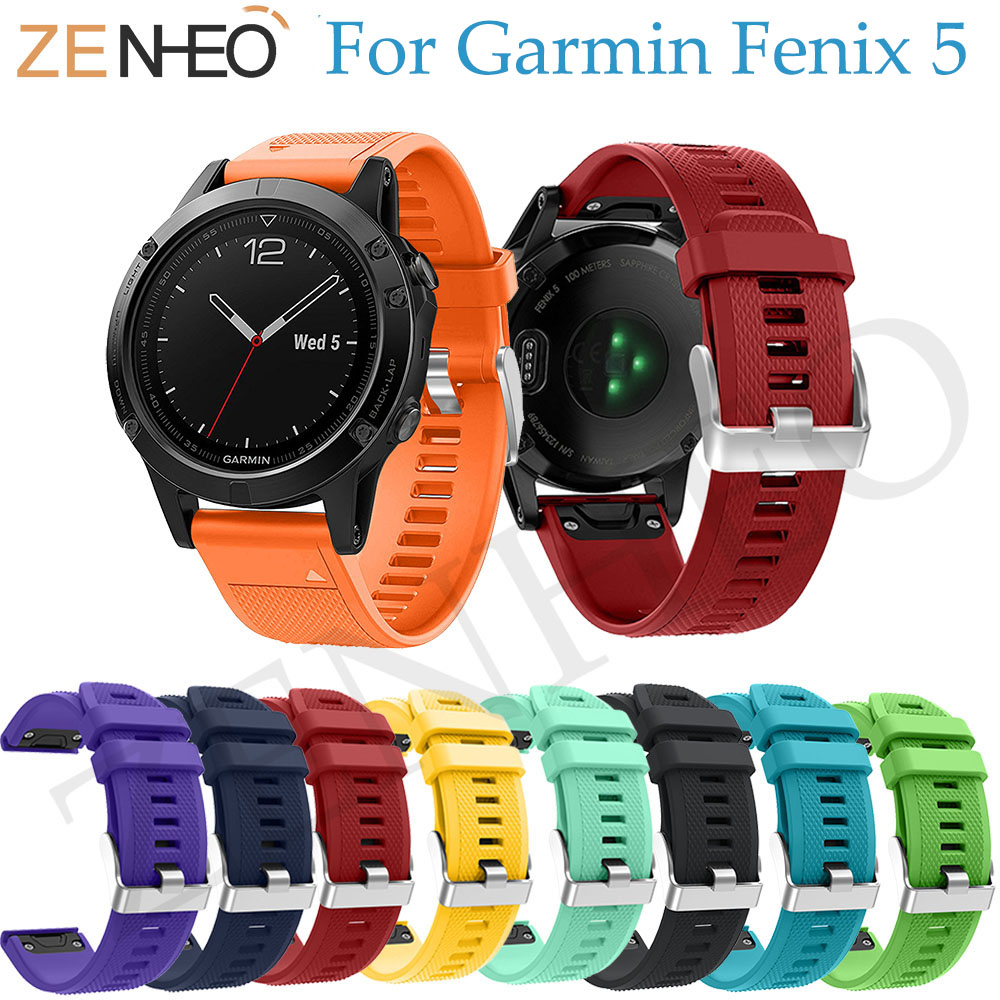 22mm Soft Silicone Replacement wristband for Garmin Fenix 5 Watch Band Quick Release bracelet For Garmin Forerunner 935 strap image
