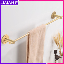 Single Towel Bar Brass Gold Towel Holder Rack Toilet Wall Mounted Towel Rack Hanging Holder Decorative Bathroom Accessories free shipping becola single towel bar gold plated towel rack solid brass towel holder bathroom accessories br 5509