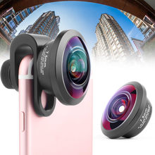 Full Screen Handy Objektiv 238 Grad Stereoskopischen Foto Kamera Objektiv 7,5mm Winkel Bereich EM88