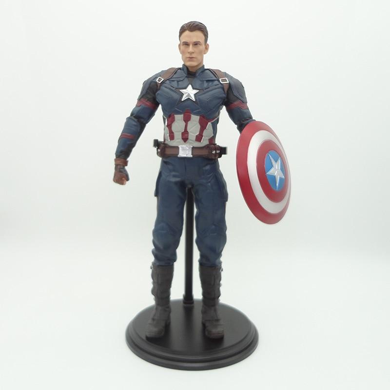 Captain America Civil War Action Figure 1 6 scale painted figure Captain America PVC figure Toy