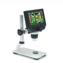 USB Digital Microscope With Aluminum Alloy Stent 600X 3 6MP 4 3 Inches HD LCD Display