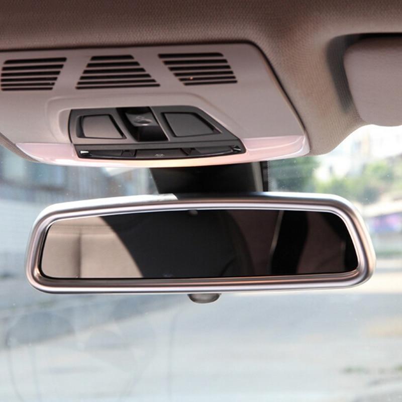 Chrome Abs Matt Interior Rear View Mirror Dec Decoration Cover Trim For Bmw 5 Series F10 F07 11