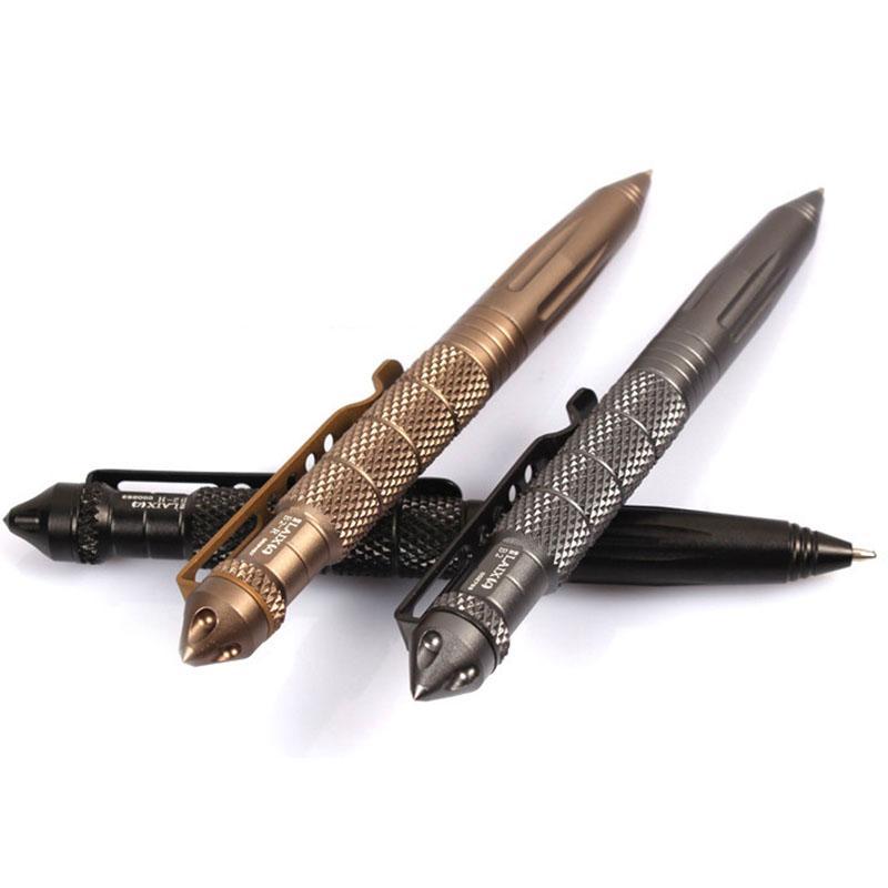 Горячая продажа Черный Портативный Тактический Ручка Самообороны Cooyoo Инструмент Авиационного Алюминия противоскольжения