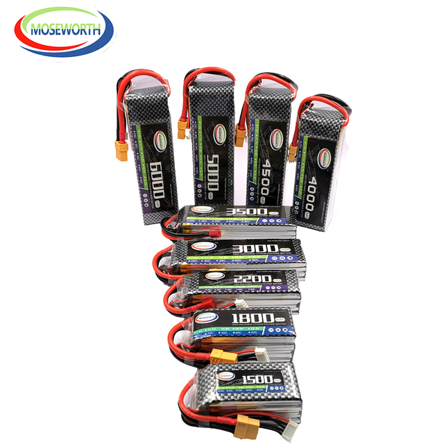 4S 14.8V RC Car LiPo Battery 1300 1800 2200 2600 3300 4500 6000mAh 30C 40C60C For RC Airplane Drone Helicopter Batteries LiPo 4S 2