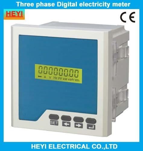 LCD HY-3RE triphasé numérique réactif compteur d'énergie compteur d'électricité compteurs d'énergie électrique compteur d'énergie