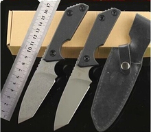 Very sharp and high hardness of D2 steel outdoor tool plexus or survival knife High hardness straight knife