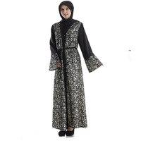 アバヤのドレスイスラム教徒女性ドレスロングスリーブアラブイスラム女