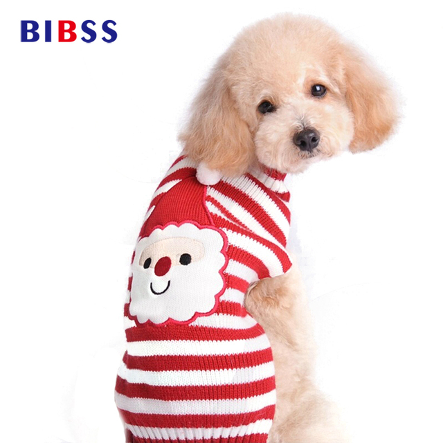 pet dog clothes for small dogs christmas sweater jackets coats dogs clothes winter acrylic pet clothing