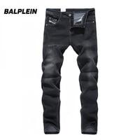 Balplein Brand New Men Jeans Skinny Fashion Jeans Cotton Black Color Elastic Stretch Good Quality Jeans