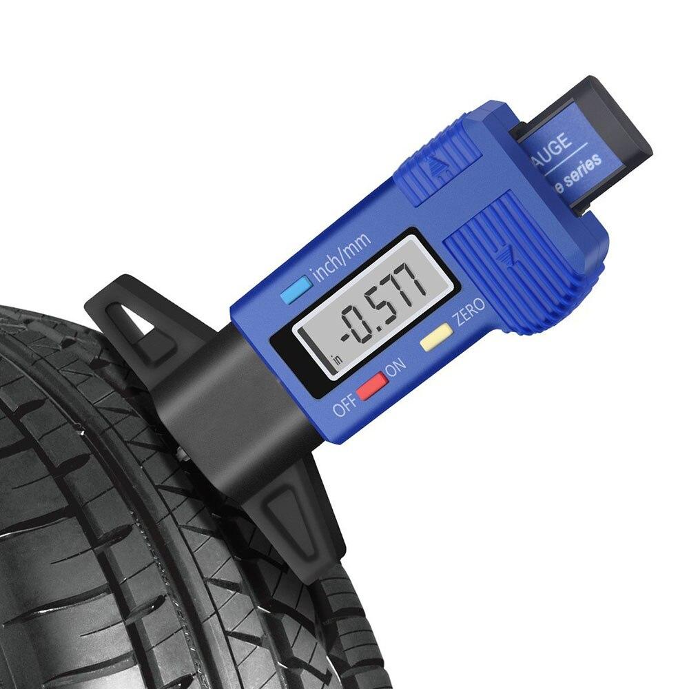 Sunsbell Tire Thread Depth Gauge Tire Pressure Gauge Digital LCD Tyre Tire Tread Depth Gauge Meter Measurer 0-25.4mm Metric//inch