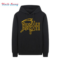 DEATH Classic Logo Mens ROCK BAND HEAVY METAL Men High Quality Winter Casual Hoodies Sweatshirt Euro