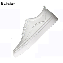 ФОТО 2018 classic white shoes women fashion sneakers flats solid shallow women casual shoes lace-up scarpe donna student sport shoes