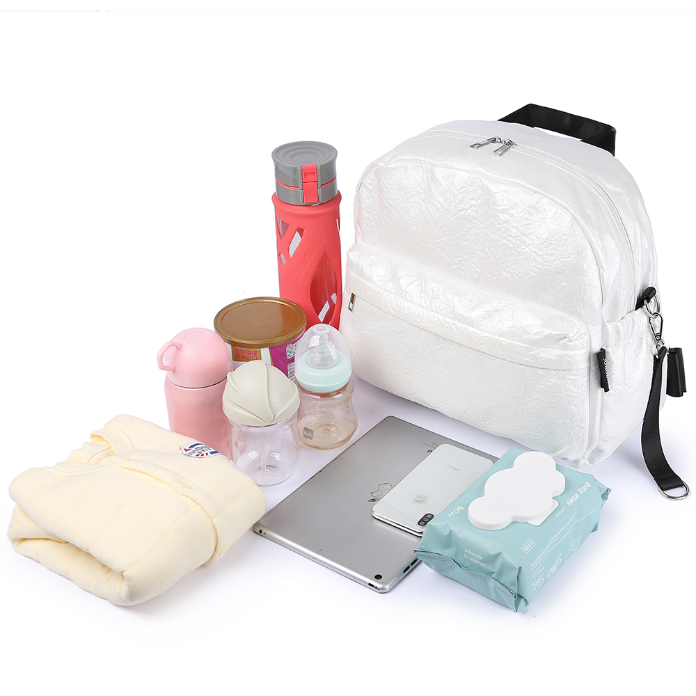 Soboba Brief Large Capacity Pearl Diaper Bags Fashionable Design Baby Care Bag for Strollers Stylish Travelling Maternity Bags (Pearl)