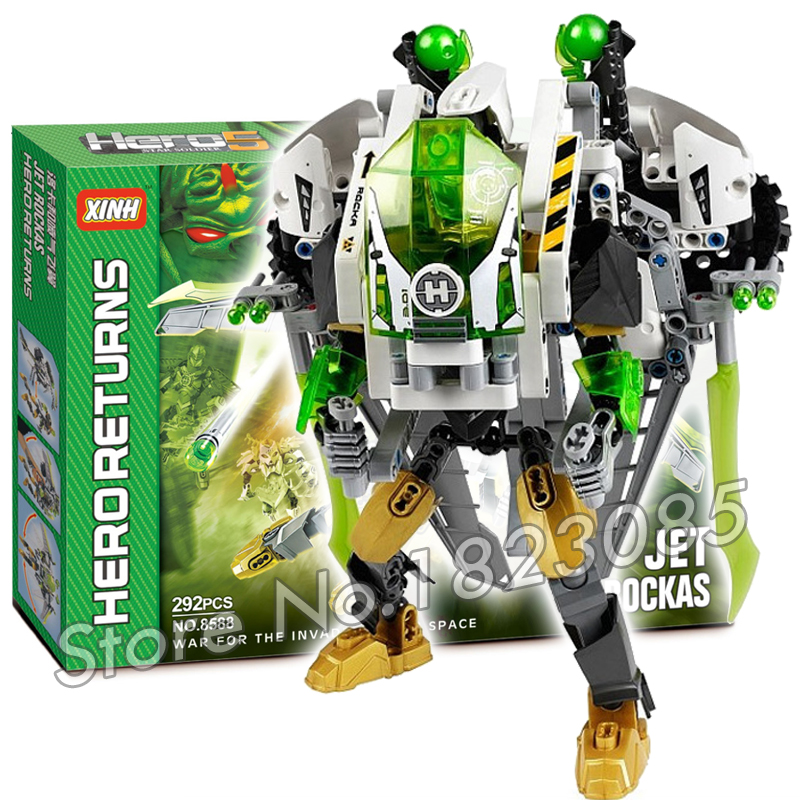 29Bela Hero Factory Brain Attack Jet Rocka Assemble Model Building Blocks Minifigure Bricks Toys Compatible With Lego