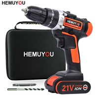 21V Electric Screwdriver Handheld Wireless Rechargeable Electric Drill Impact Drill lithium Battery Power Tool + Smart Display