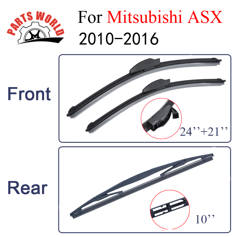 Partsword Front And Rear Wiper Blades For Mitsubishi ASX 2010-2016 Windshield Rubber Car Accessories